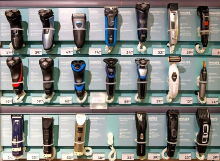 Large collection of electric shavers